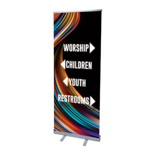 "Twisted Paint Directional 2'7"" x 6'7""  Vinyl Banner"