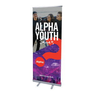 "Alpha Youth Purple 2'7"" x 6'7""  Vinyl Banner"
