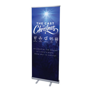 "The Cast of Christmas 2'7"" x 6'7""  Vinyl Banner"