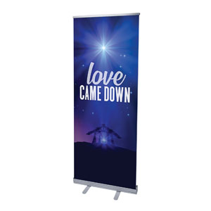 "Aurora Lights Christmas 2'7"" x 6'7""  Vinyl Banner"