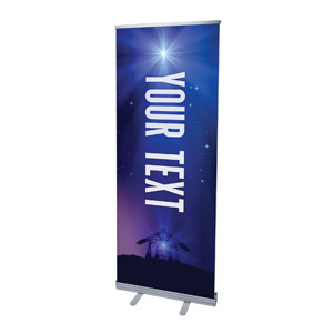 "Aurora Lights Christmas Your Text 2'7"" x 6'7""  Vinyl Banner"