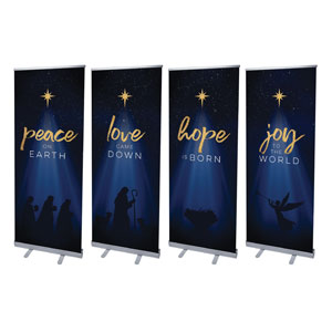 "Christmas Star Hope is Born Advent Set 2'7"" x 6'7""  Vinyl Banner"