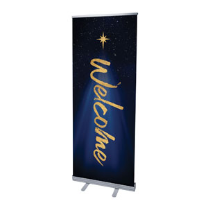 "Christmas Star Hope is Born Welcome 2'7"" x 6'7""  Vinyl Banner"