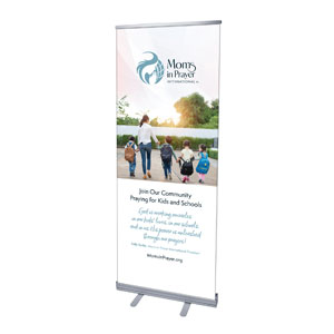 "Moms In Prayer Family Walk 2'7"" x 6'7""  Vinyl Banner"