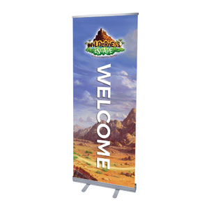 "Wilderness Escape Welcome 2'7"" x 6'7""  Vinyl Banner"