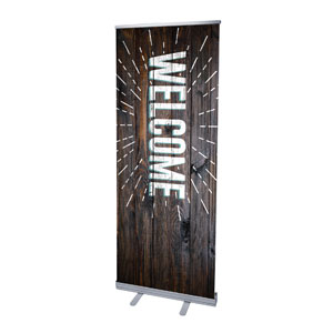 "Dark Wood Easter At Welcome 2'7"" x 6'7""  Vinyl Banner"