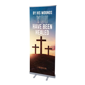 "Easter Hope Outline Scripture 2'7"" x 6'7""  Vinyl Banner"