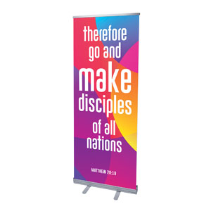 "Curved Colors Scripture 2'7"" x 6'7""  Vinyl Banner"