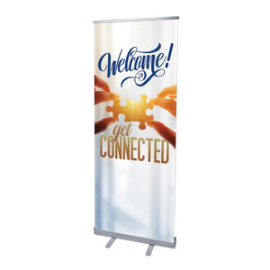 "Connected 2'7"" x 6'7""  Vinyl Banner"