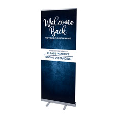 Blue Grunge Welcome Back Distancing
