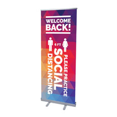 Geometric Bold Welcome Back Distancing