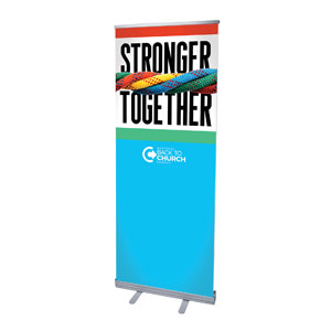 "BTCS Stronger Together 2'7"" x 6'7""  Vinyl Banner"