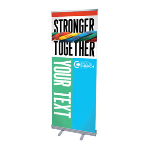 "BTCS Stronger Together Your Text 2'7"" x 6'7""  Vinyl Banner"