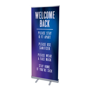 "Aurora Lights Welcome Guidelines 2'7"" x 6'7""  Vinyl Banner"