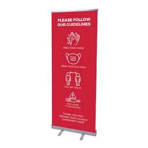 "Red Guidelines 2'7"" x 6'7""  Vinyl Banner"