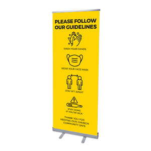 "Yellow Guidelines 2'7"" x 6'7""  Vinyl Banner"