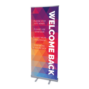 "Geometric Bold Welcome Guidelines 2'7"" x 6'7""  Vinyl Banner"