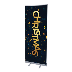 "Christmas At Bokeh 2'7"" x 6'7""  Vinyl Banner"