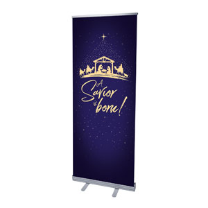 "Christmas Star Savior Is Born 2'7"" x 6'7""  Vinyl Banner"