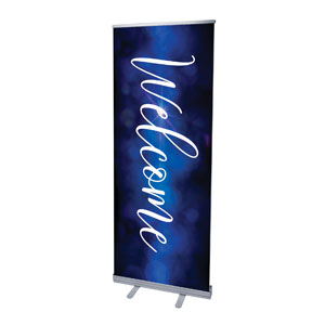 "Celebrate Christmas Blue Sparkle Welcome 2'7"" x 6'7""  Vinyl Banner"