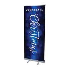 Celebrate Christmas Blue Sparkle
