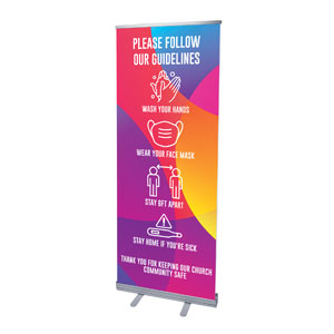 "Curved Colors Guidelines 2'7"" x 6'7""  Vinyl Banner"