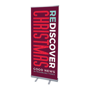 "ReDiscover Christmas Advent Contemporary 2'7"" x 6'7""  Vinyl Banner"