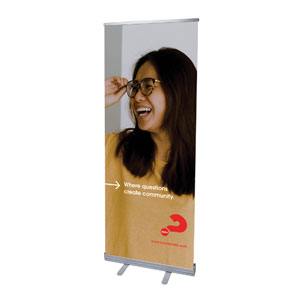 "Alpha Arrow Create Community Maggy 2'7"" x 6'7""  Vinyl Banner"