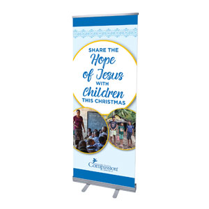 "Compassion Share The Hope 2'7"" x 6'7""  Vinyl Banner"