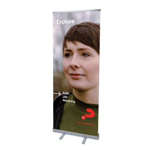 "Alpha Arrow Explore Beth 2'7"" x 6'7""  Vinyl Banner"