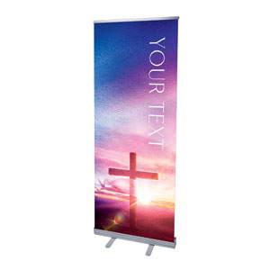 "Love Easter Colors Your Text 2'7"" x 6'7""  Vinyl Banner"