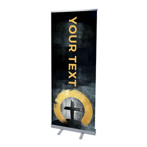 "Hope Is Alive Gold Your Text 2'7"" x 6'7""  Vinyl Banner"