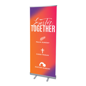 "Easter Together Hues 2'7"" x 6'7""  Vinyl Banner"