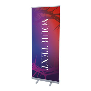 "Celebrate Easter Crown Your Text 2'7"" x 6'7""  Vinyl Banner"