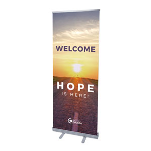 "BTCS Hope Is Here Welcome 2'7"" x 6'7""  Vinyl Banner"