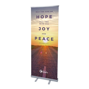 "BTCS Hope Is Here Scripture 2'7"" x 6'7""  Vinyl Banner"