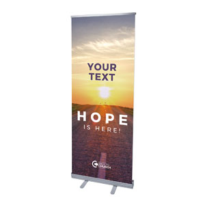 "BTCS Hope Is Here Your Text 2'7"" x 6'7""  Vinyl Banner"