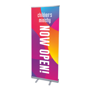 "Curved Colors Children's Ministry 2'7"" x 6'7""  Vinyl Banner"
