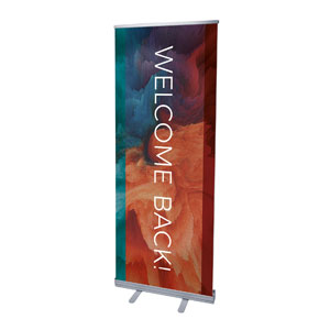 "Welcome Back Burst 2'7"" x 6'7""  Vinyl Banner"