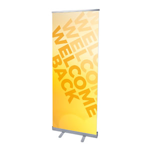 "Welcome Back Yellow 2'7"" x 6'7""  Vinyl Banner"