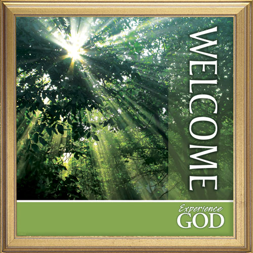 Nature Welcome Banner Church Banners Outreach Marketing