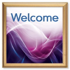 Swirls Welcome Banner