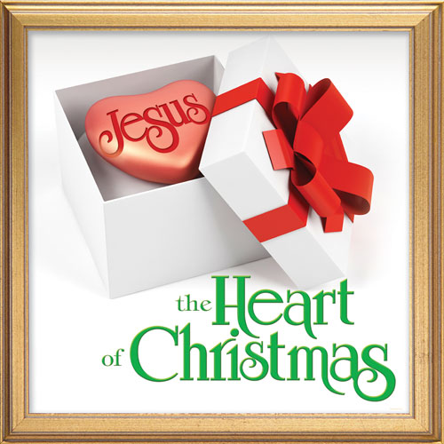 Jesus Heart Of Christmas Banner Church Banners