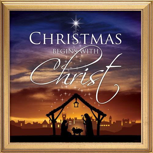 Church Banner Christmas Begins Christ 3 X 3 Outreach