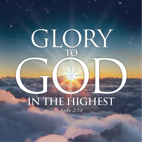 glory to god banner - church banners
