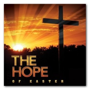 Easter Hope Cross StickUp