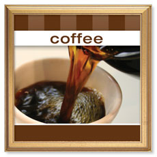 Stripes Coffee Banner