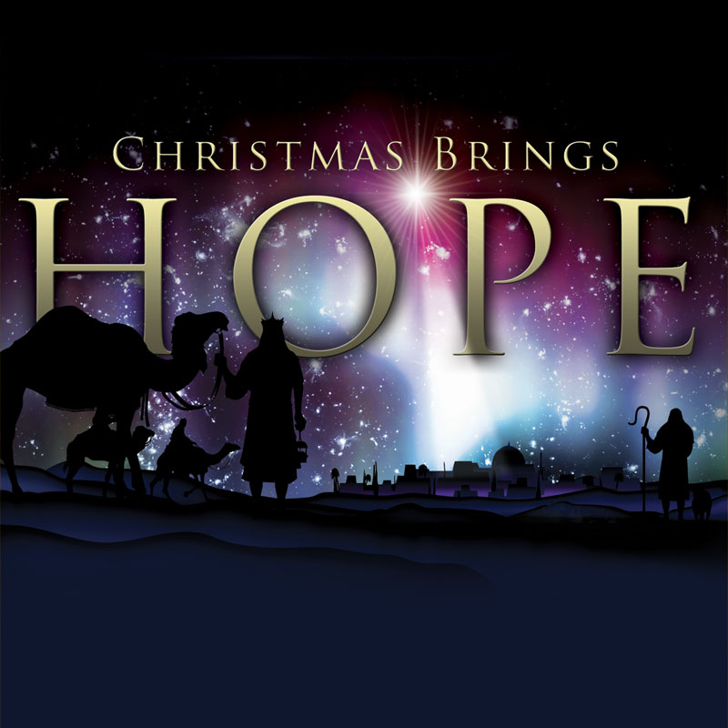 Church Banner Christmas Brings Hope 3 X 3 Outreach