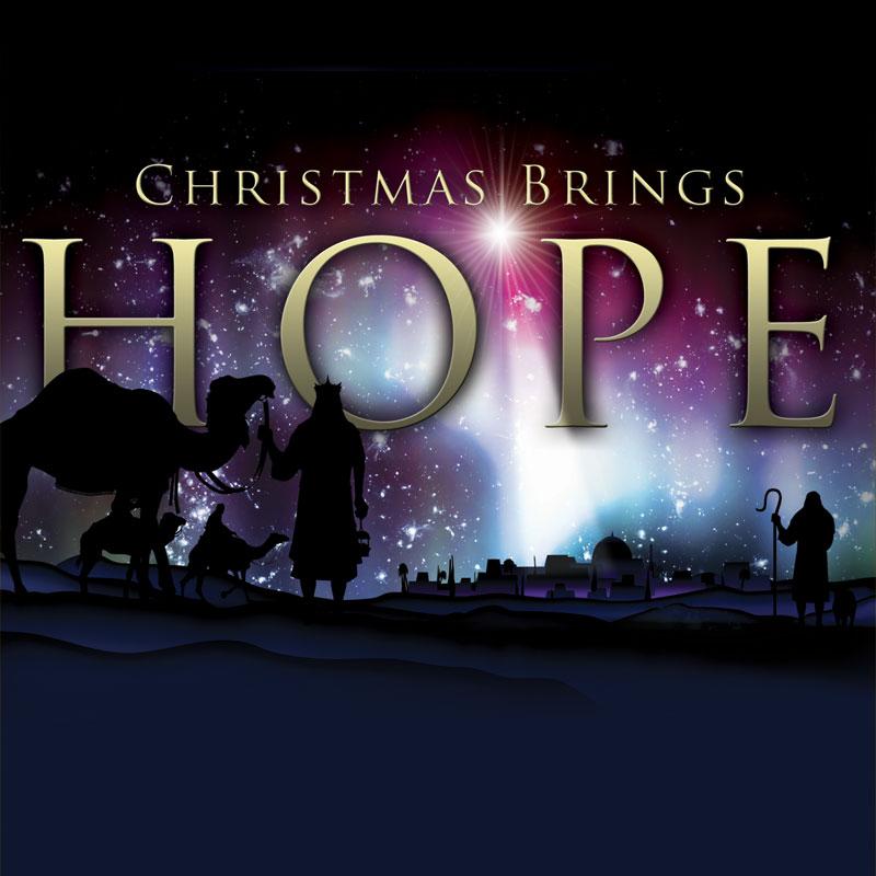 Church Banner - Christmas Brings Hope 3' x 3' - Outreach Marketing