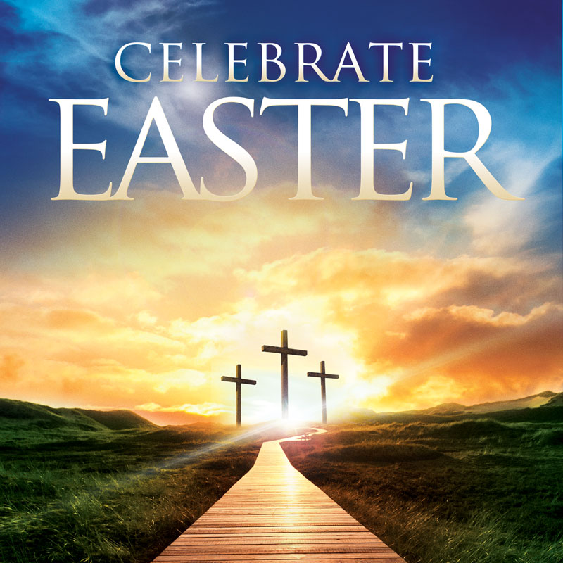 easter crosses path banner - church banners
